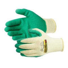 GLOVES LATEX COATED YELLOW/GREEN – L22110