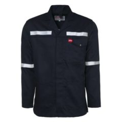 FLAME RETARDANT, REFLECTIVE WORK JACKET – NAVY