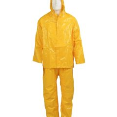RAINSUIT 2P YELLOW HEAVY DUTY C/W CLIP FRONT