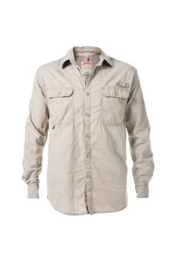 VENTED L/S SHIRT-STONE