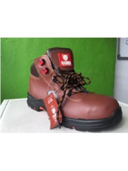 SAFETY SHOES PU/RUB CE S3 BROWN AKO NAMIRI