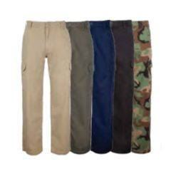 LEGEN MULTI PKT CARGO PANTS-KHAKI