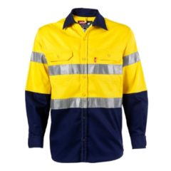 SHIRT YELLOW/NAVY L/S WITH TAPE